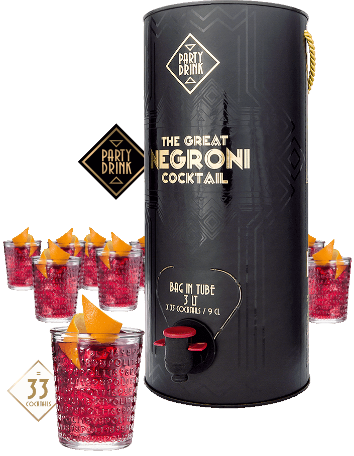 The Great Negroni Cocktail - tumbler